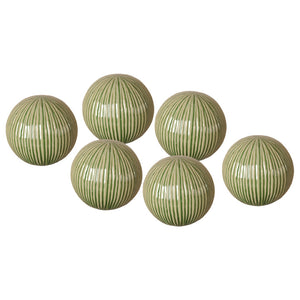 Textured Ceramic Decorative Balls - Set of 6
