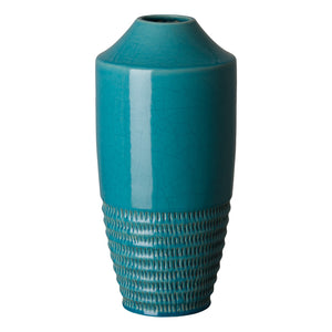 Tall Nantucket Ceramic Vase  – Turquoise