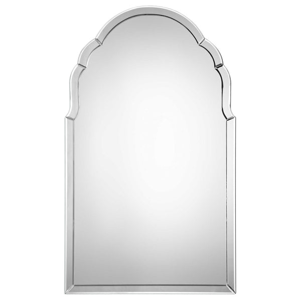 Curved Arch Frameless Mirror