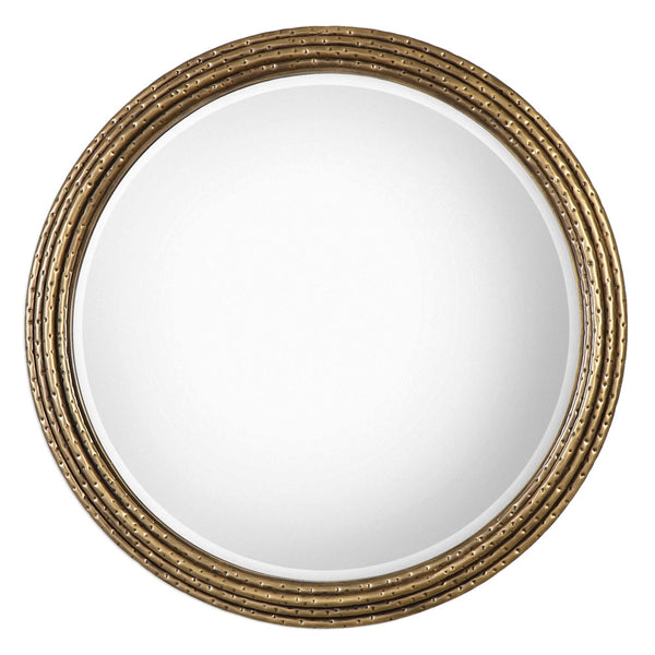 Antique Gold Stacked Rings Mirror