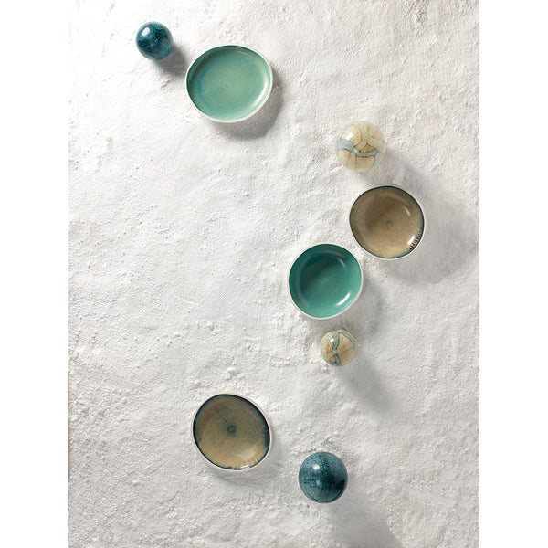 Large & Small Cosmos Hand Blown Glass Balls – Pale Blue