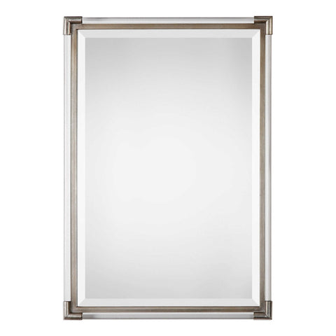 Acrylic & Metal Contemporary Mirror – Silver Leaf