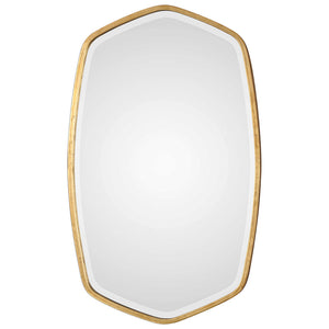 Large Gold Leafed Mirror with Ovoid Frame