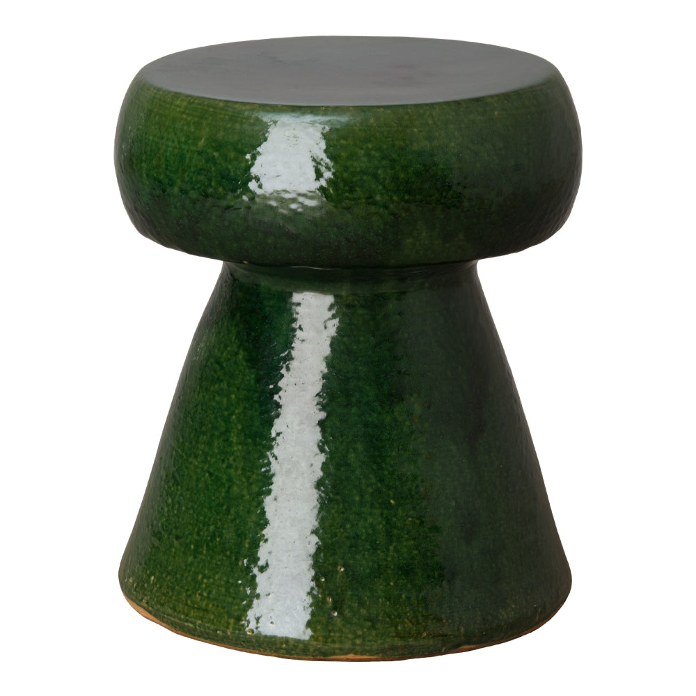Portabello Garden Stool – Dark Green
