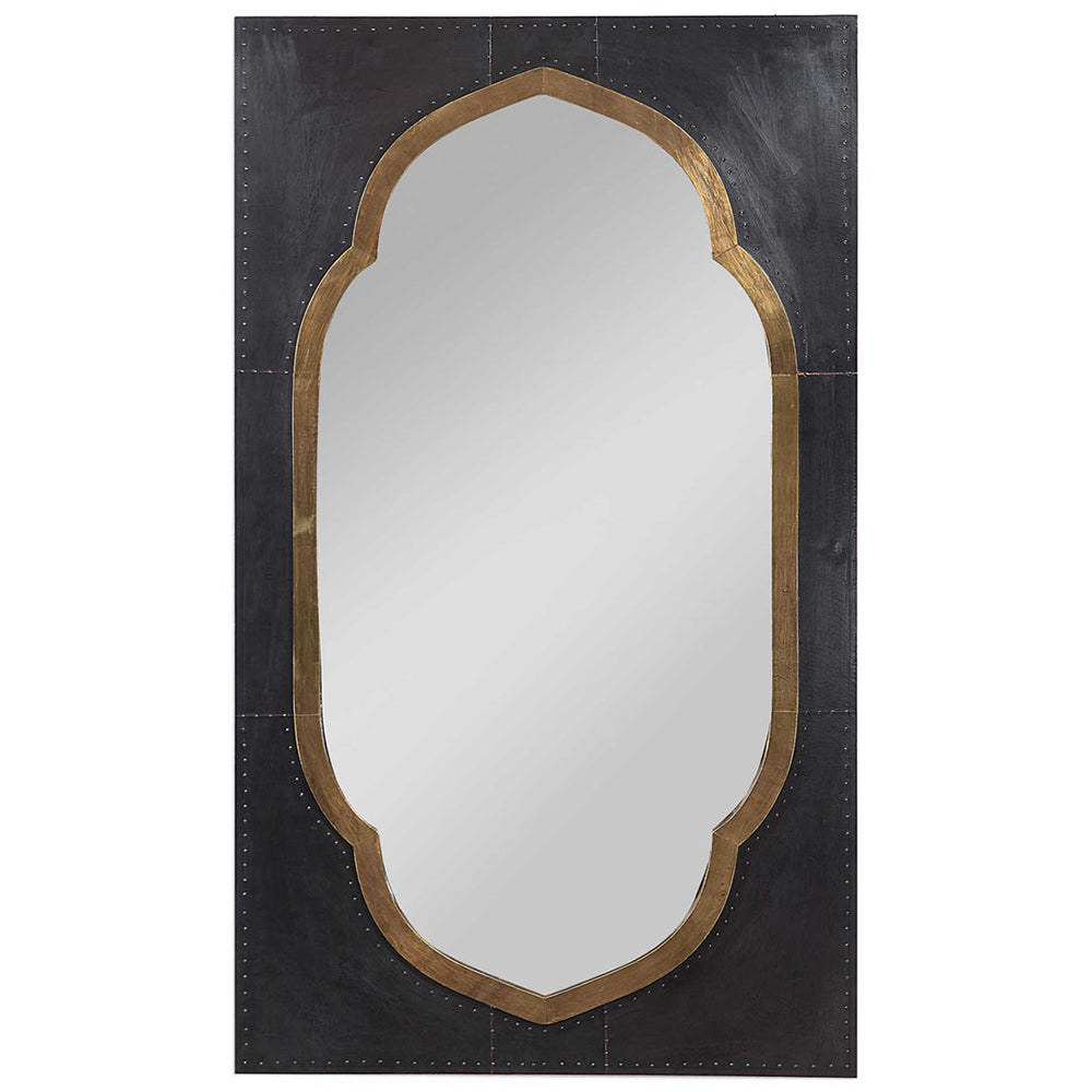 Copper Clad Moroccan Wall Mirror – Dark Bronze
