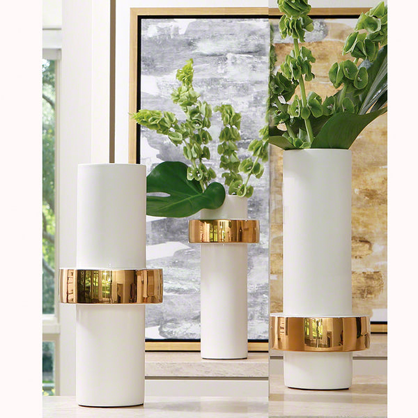 Gold Ring Ceramic Vase – 3 Variants