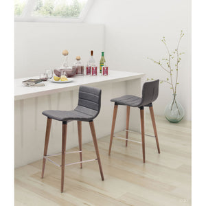 Jericho Counter Chair Gray (Set of 2) - Gray