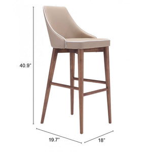 Moor Bar Chair Beige - Beige
