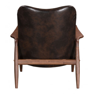 Bully Lounge Chair & Ottoman Brown - Brown