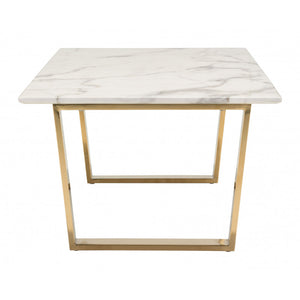 Atlas Coffee Table  - Stone & Gold