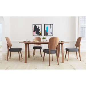 Alberta Dining Chair (Set of 2) - Walnut & Dark Gray