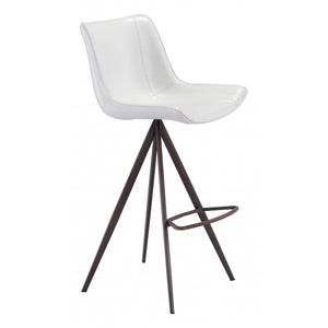 Aki Bar Chair (Set of 2) - White & Walnut