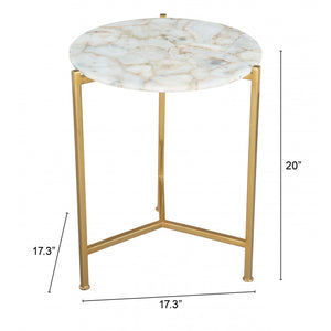 Haru Side Table  - Agate & Gold
