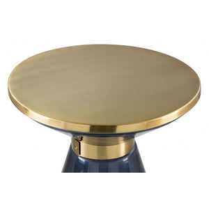 Apollo Side Table  - Blue & Gold