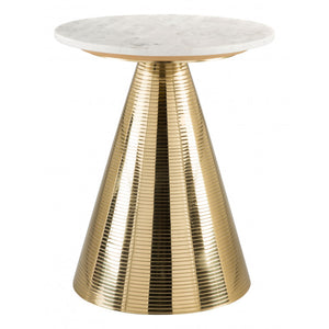 Pure Side Table  - White & Gold