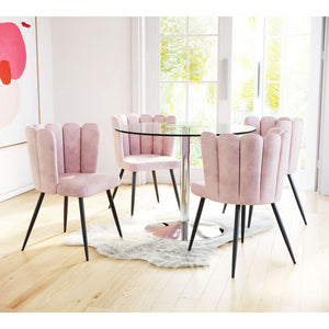 Adele Chair Pink  (Set of 2) - Pink
