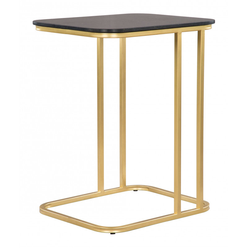 Alma C-Side Table  - Black & Gold
