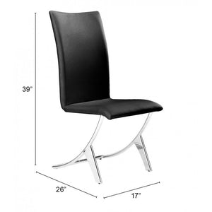 Delfin Dining Chair Black (Set of 2) - Black