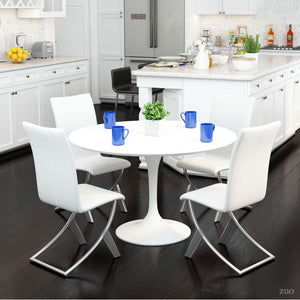 Delfin Dining Chair White (Set of 2) - White