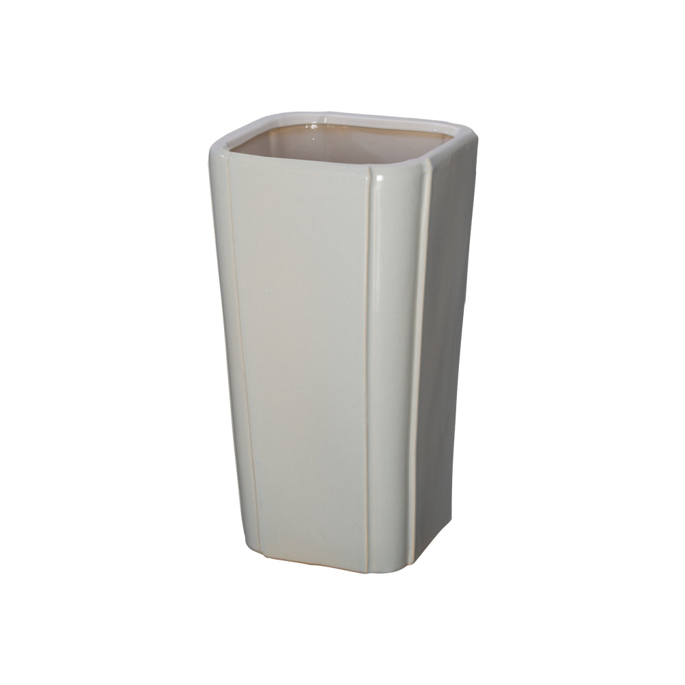 Quadrant Open Ceramic Vase  – Grey