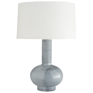 Arteriors Nakoma Globular Porcelain Table Lamp with Ribbed Neck