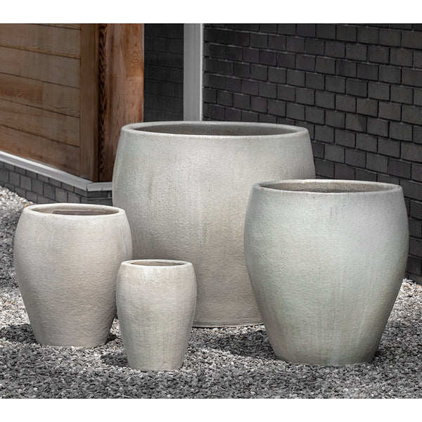 Large Antique Pearl Tapered Planters – Set of 4