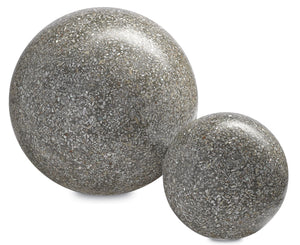 Currey and Company Abalone Small,Large Concrete Ball
