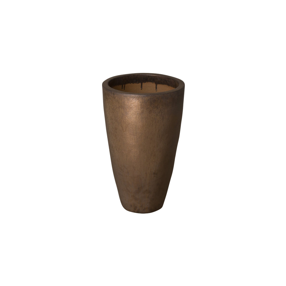 Tall Round Ceramic Planter - Small