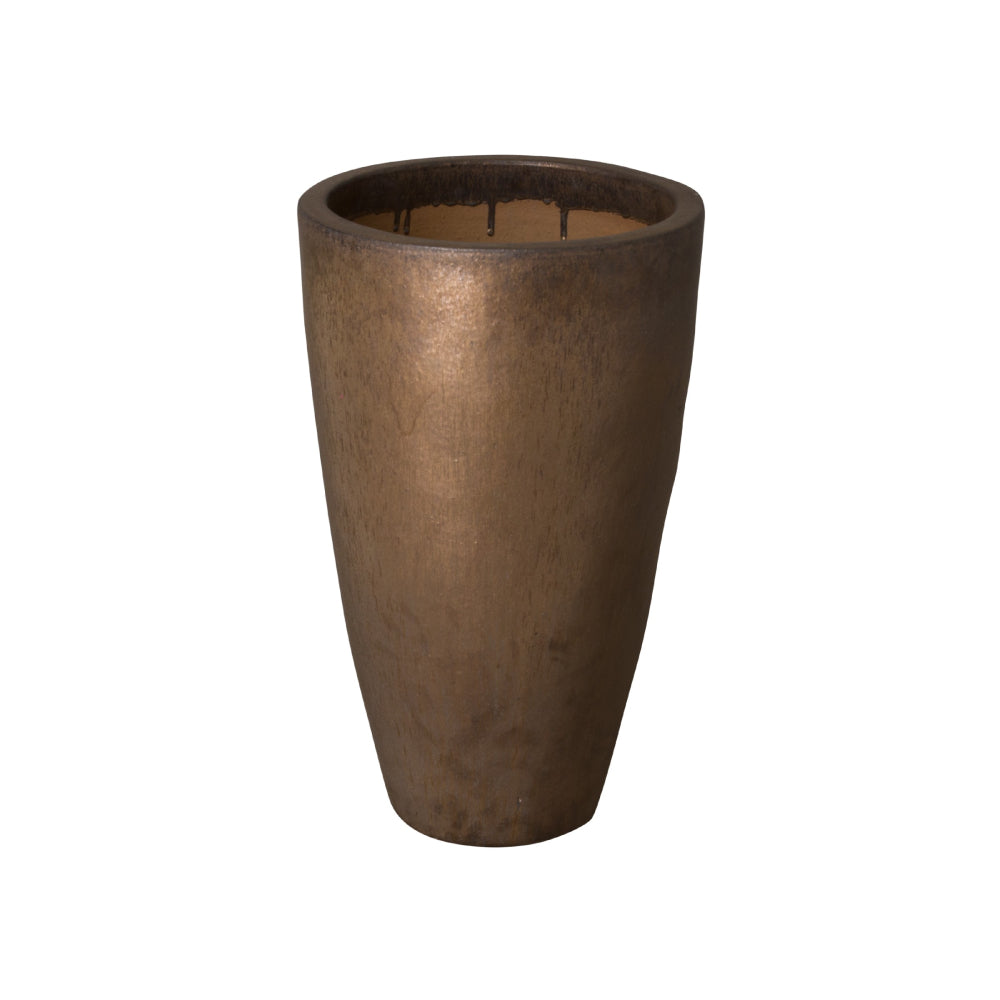 Tall Round Ceramic Planter - Medium