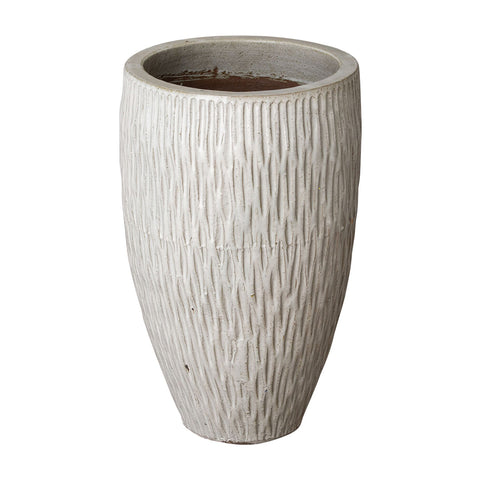Medium Textured Tapering Planter – Distressed White
