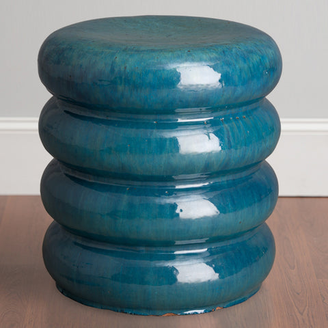 Stacked Discs Garden Stool – Teal