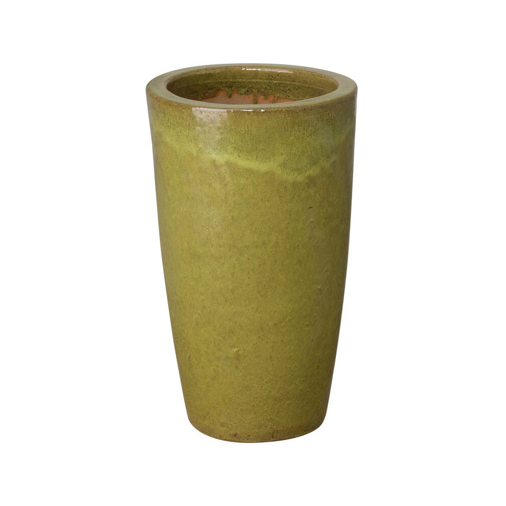 Tall Cylinder Planter - Citron Yellow