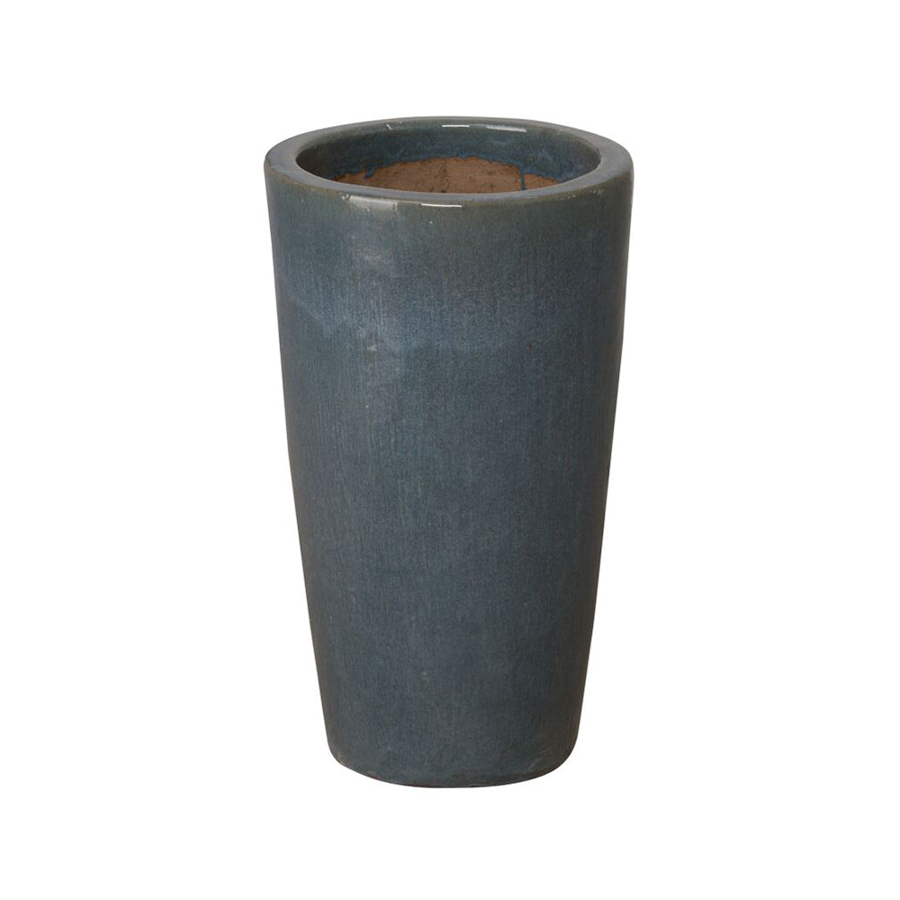 Tall Cylinder Planter - Grey