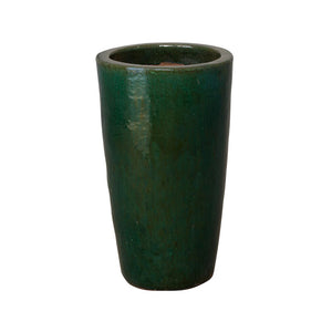 Tall Cylinder Planter - Dark Green