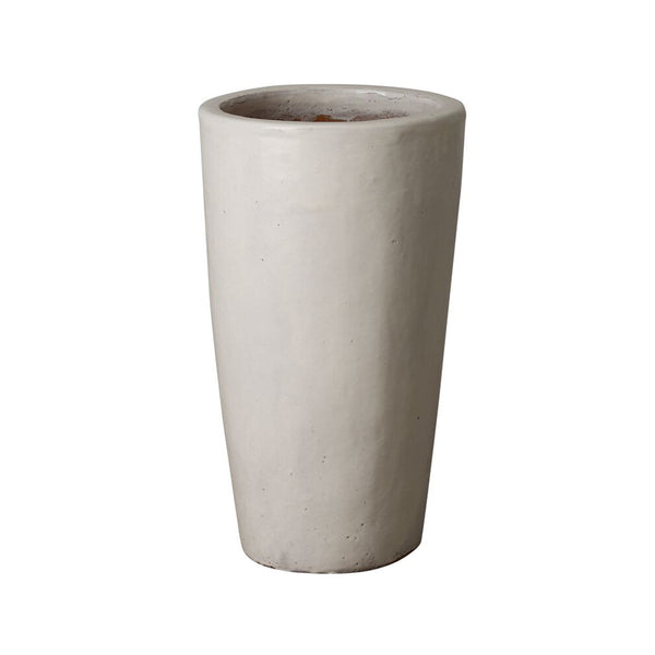 Tall Cylinder Planter - White