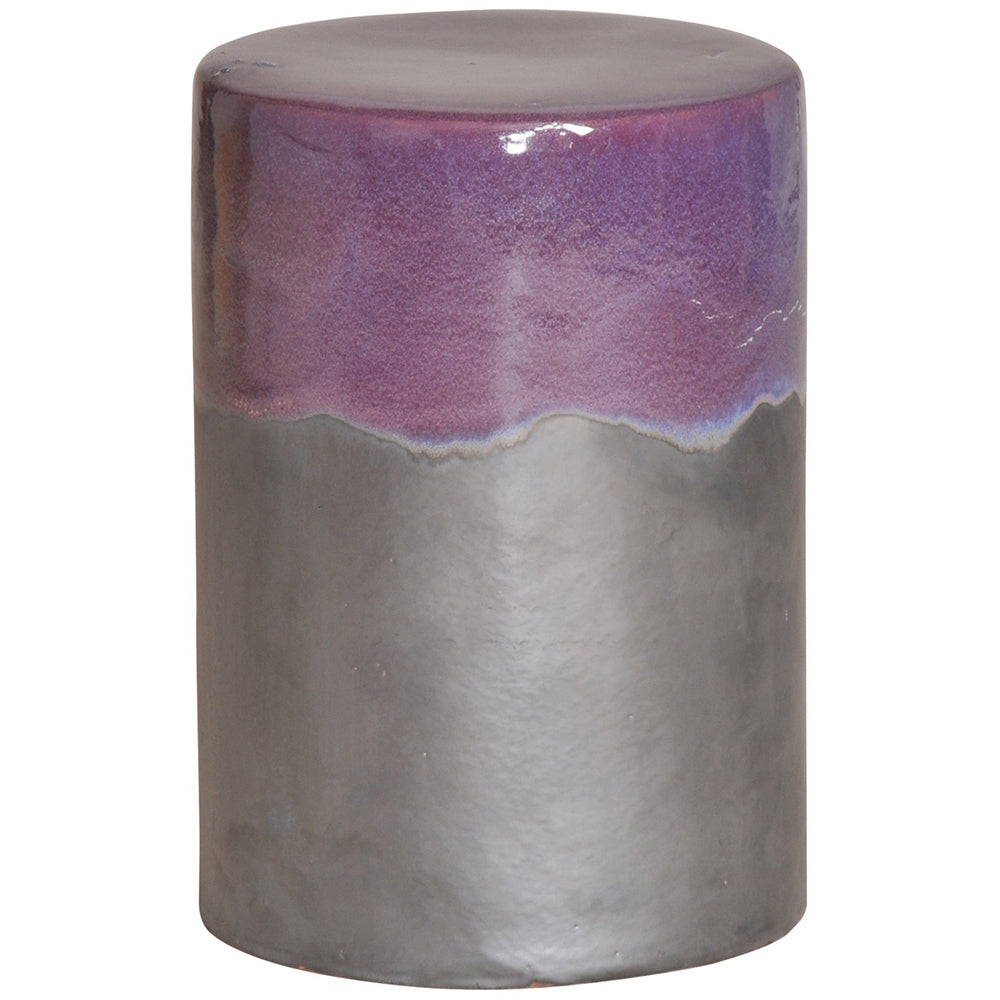 Two-Tone Garden Stool - Purple