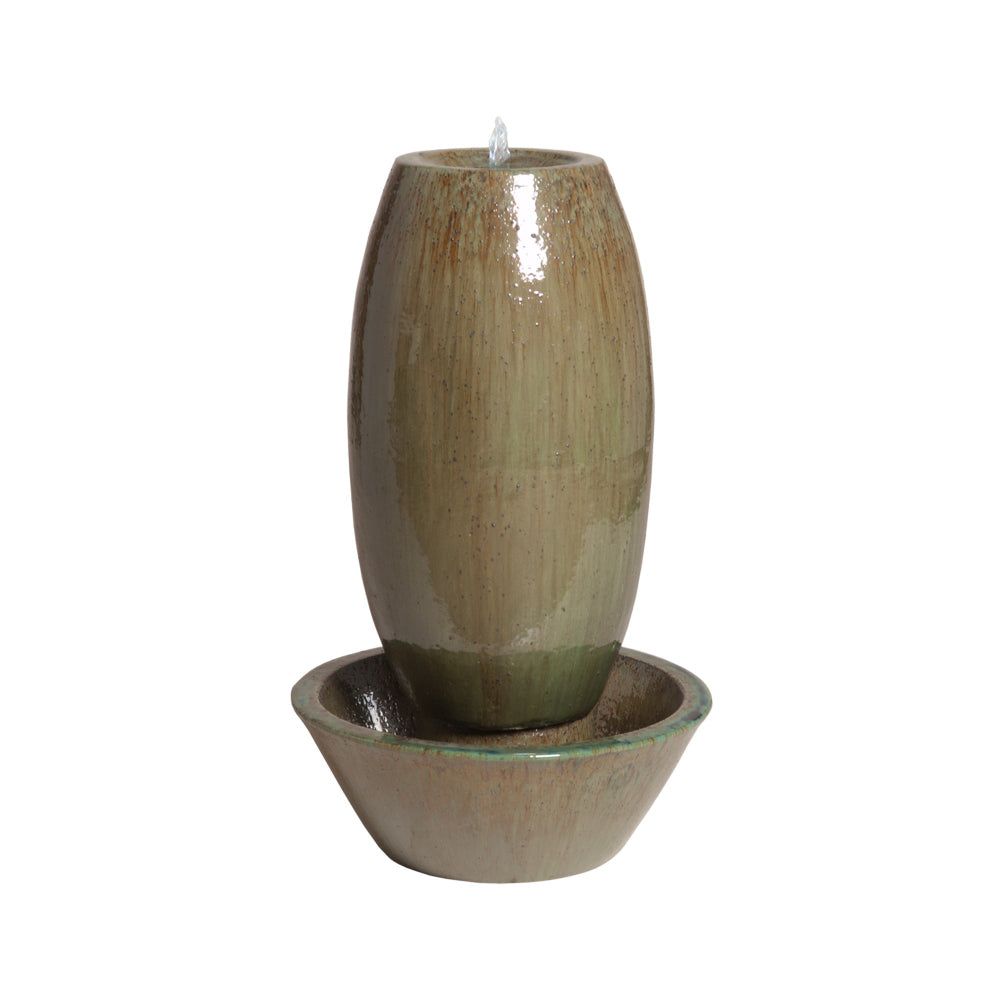 Small 2-Piece Garden Fountain - Lemon Green