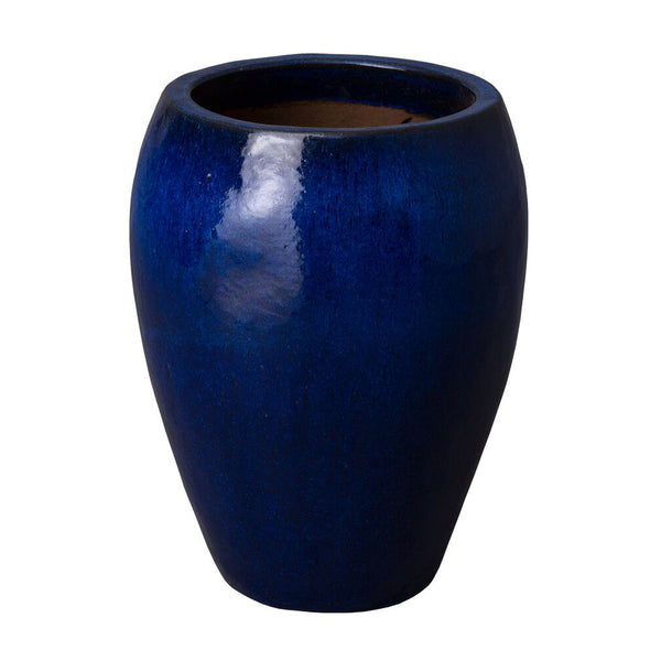 Round Tapered Planter - Cobalt Blue
