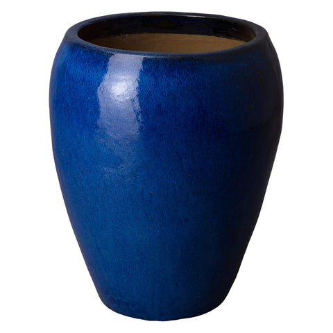 Large Round Tapered Planter - Cobalt Blue