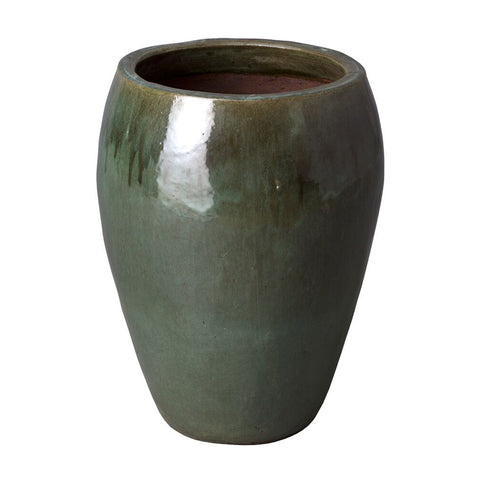 Round Tapered Planter - Tea Green