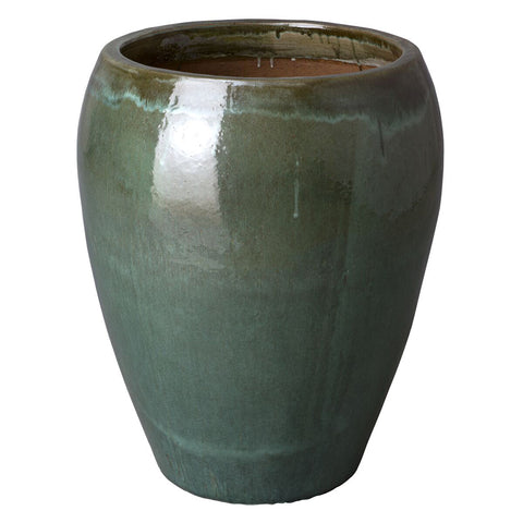 Large Round Tapered Planter - Tea Green