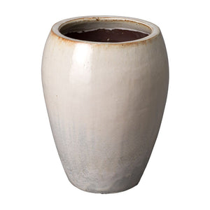 Round Tapered Planter - White