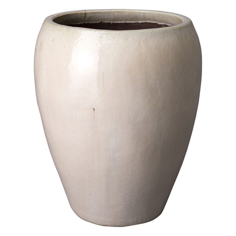 Large Round Tapered Planter - White