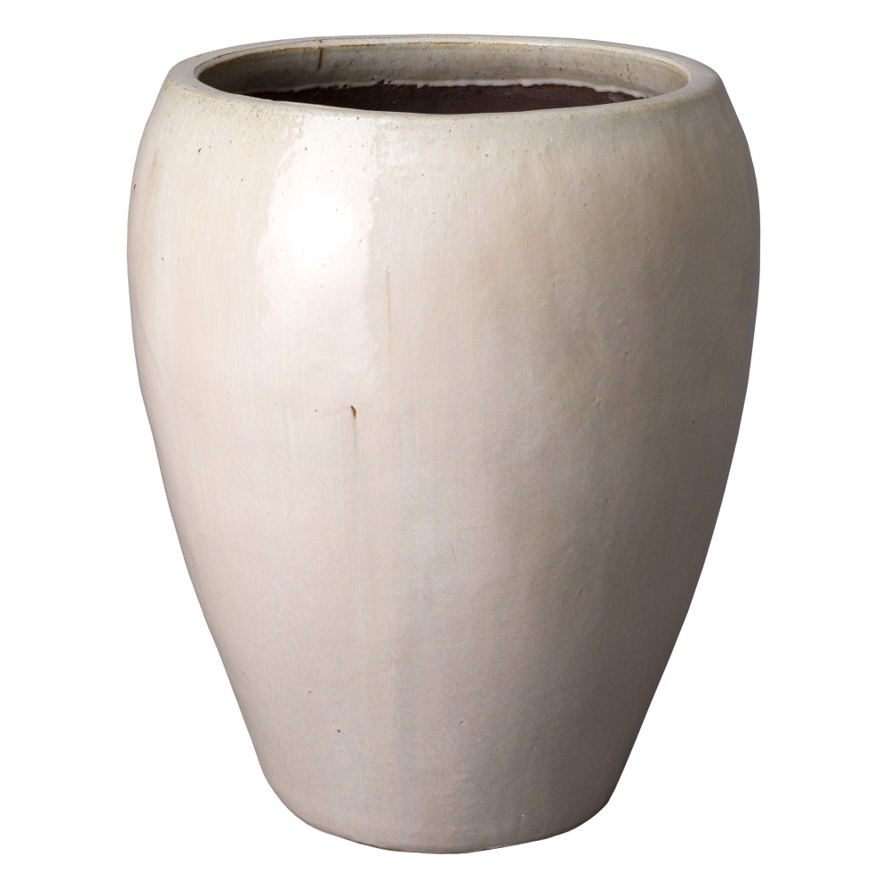 Large Round Ceramic Pot – Distressed White