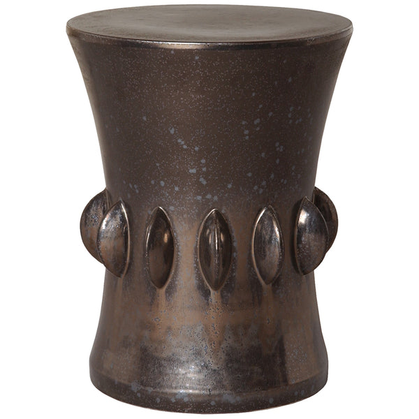 Large Jewel Garden Stool - Gun Metal