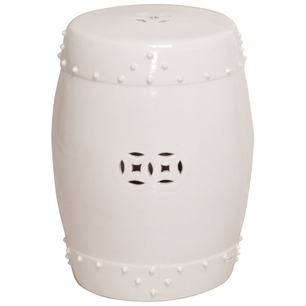 Prosperity Garden Stool - White