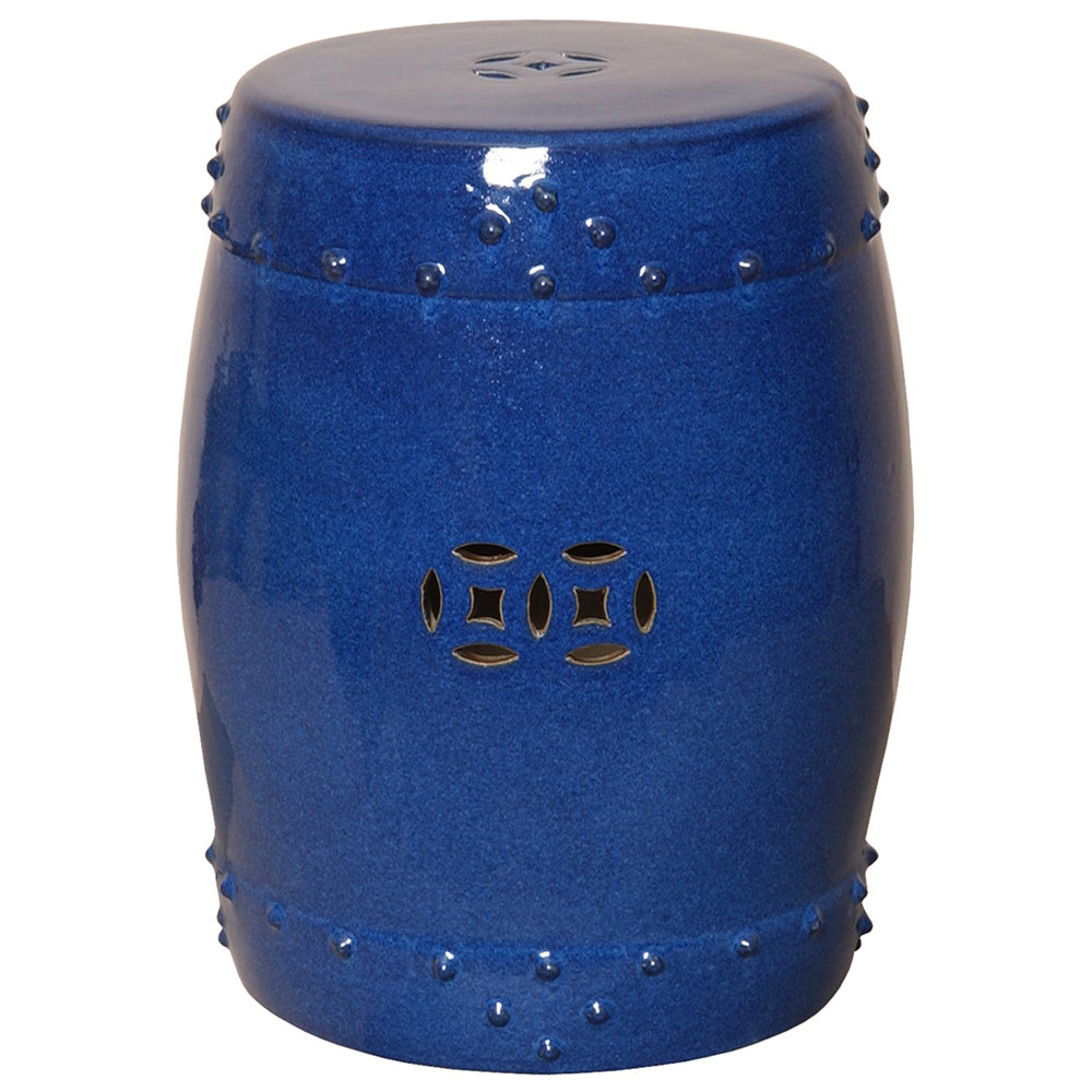 Large Prosperity Garden Stool - Blue