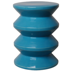 Accordion Garden Stool - Turquoise