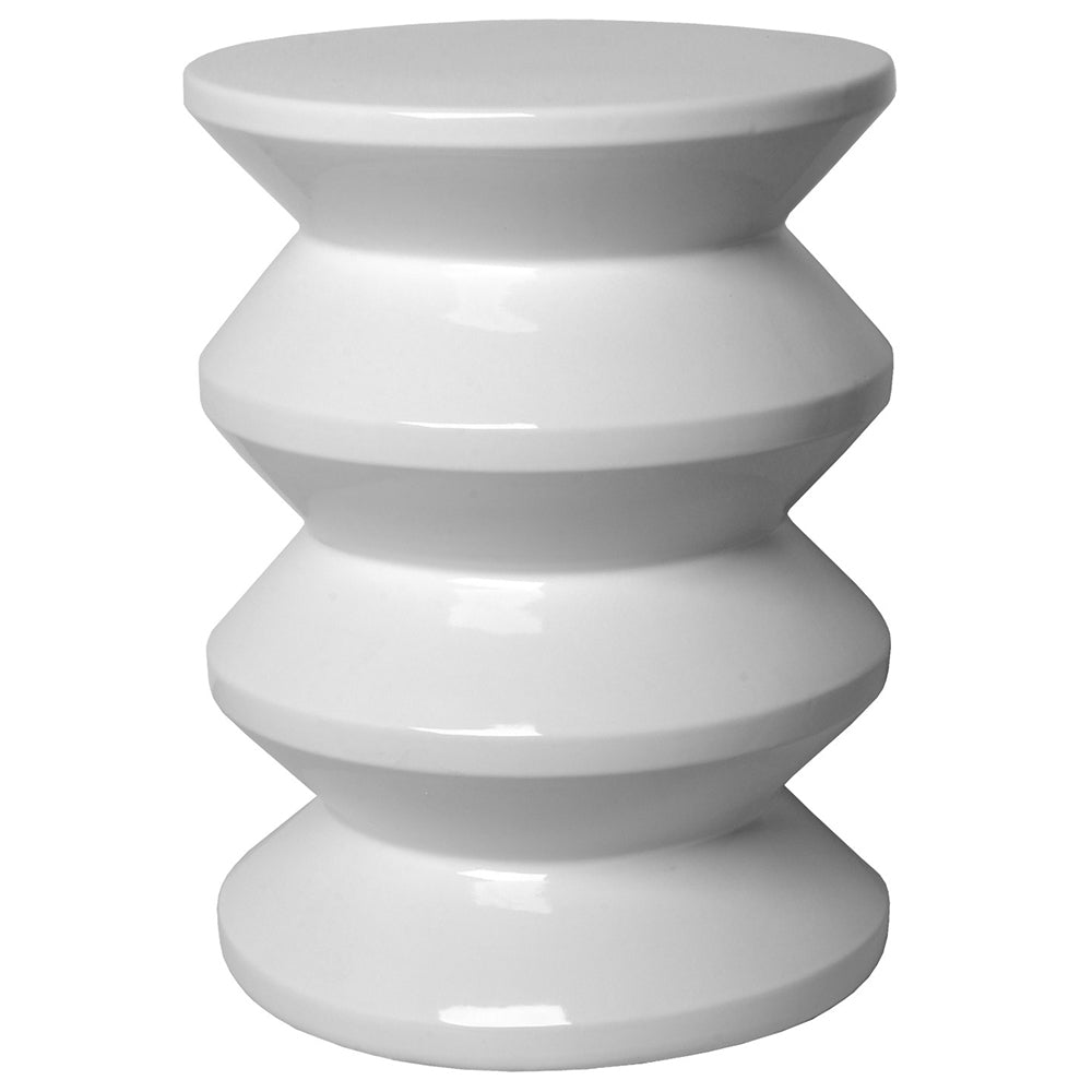 Accordion Garden Stool - White