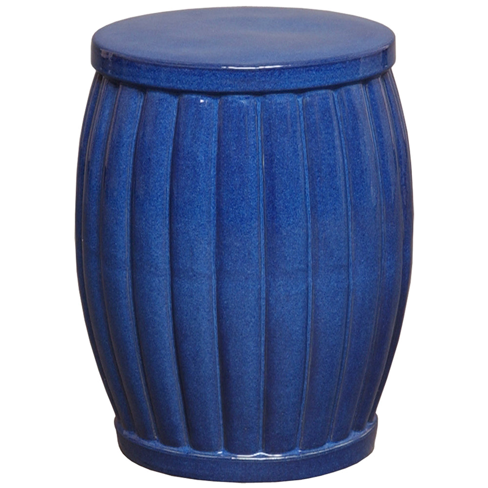 Ridge Garden Stool - Blue